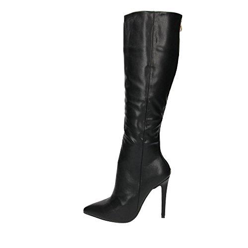 High Knee Au8 Uk7 Black Black Stiletto Brown Us9 Boots Heel Pointed Toe Eu40 q4xwpIFt