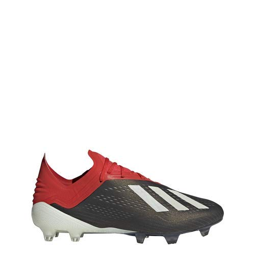 adidas Men's X 18.1 FG Soccer Cleats (12 M US, Black/White/Active Red)
