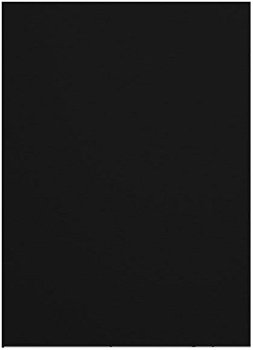 Via Black 8-1/2-x-14 Felt Cardstock Paper 200-pk - 216 GSM (80lb Cover) PaperPapers Legal size Card Stock Paper - Business, Card Making, Designers, Professional and DIY Projects