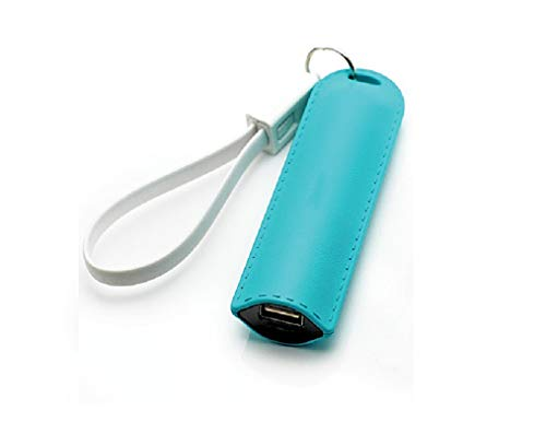 Keychain Phone Charger 3,500mAh, LMS Portable USB Battery Charger Battery Pack Phone Charger Power Bank Compatible with Smartphones Cell Phones iPhones Android Samsung Galaxy Tablet (Light Blue) - Phone Battery Charger Keychain