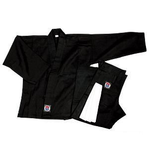 ProForce 6oz 100% Cotton Karate Gi / Uniform - Black - Size 0
