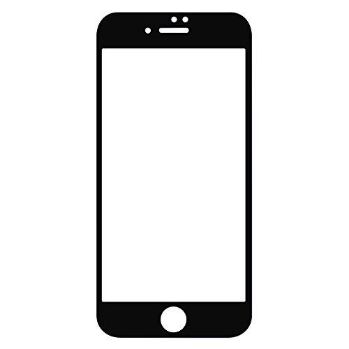 例絶妙はちみつ【フィルム貼る枠をゲット】iPhone7 強化ガラスフィルム全面 ESR 防爆裂 指紋防止 硬度9H 0.3mm 気泡防止 高透明度 iphone7 全面液晶保護フィルム(ブラック)