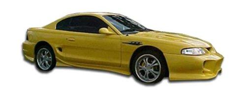Duraflex ED-BSH-666 Vader Side Skirts Rocker Panels - 2 Piece Body Kit - Compatible For Ford Mustang -