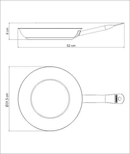 Tramontina 62635300 Poêle professionnelle en acier 18/10 18/10 Ø 30 cm