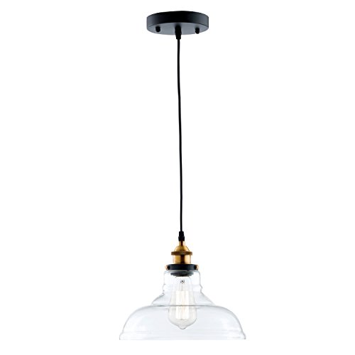 Light Society Classon Edison Pendant Light, Clear Glass Shade with Brushed Bronze Finish, Vintage Modern Industrial Lighting Fixture (LS-C171) by Light Society (Image #1)