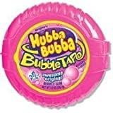 Wrigley Awesome Original Hubba Bubba Bubble Gum Tape -- 144 per case.