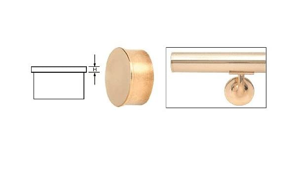 """Brushed Stainless Flat End Cap for 2/"""" Round Tubing"""