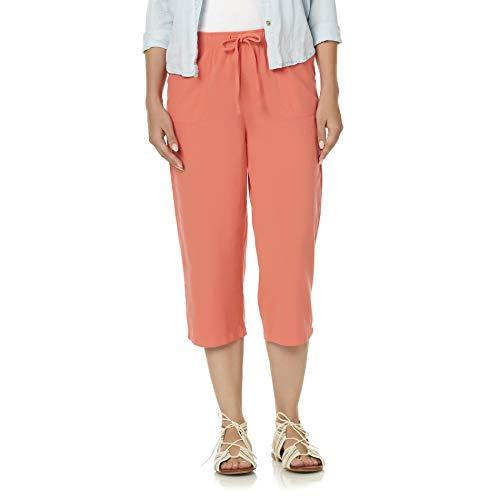 (BASIC EDITIONS Women's Capri Pants Size S/C Porcelain Rose)