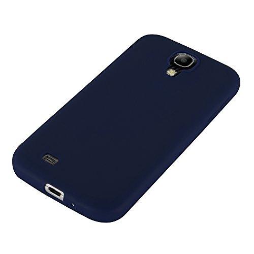 Cadorabo - Cubierta protectora Samsung Galaxy S4 (I9500) de silicona TPU en diseño Candy - Case Cover Funda Carcasa Protección en AZUL-CANDY AZUL-OSCURO-CANDY