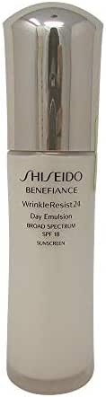 Shiseido SPF 18 Benefiance Wrinkle-Resist 24 Day Emulsion for Unisex, 2.5 Ounce