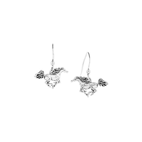 Kabana Sterling Silver Running Horse Dangle Earrings ()