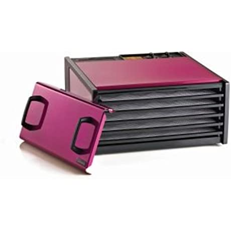 5 Tray Dehydrator With Timer Color Raspberry