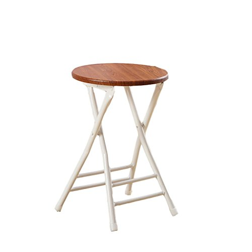 AIDELAI Bar Stool Chair- Fashion Simple Folding Chair Home Adult Dining Chair Backrest Training Chair Folding Stool Stool Outdoor Chair (30 30 45cm) Saddle Seat (Color : A)