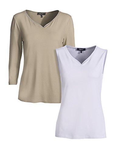 Mocca - Camiseta sin mangas - para mujer taupe-weiss