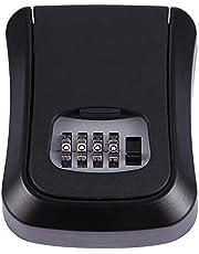Rfvtgb Blauw wachtwoord sleutelslot box wanddoos van zinklegering weerbestendig 4-cijferige combinatiesleutel opbergdoos