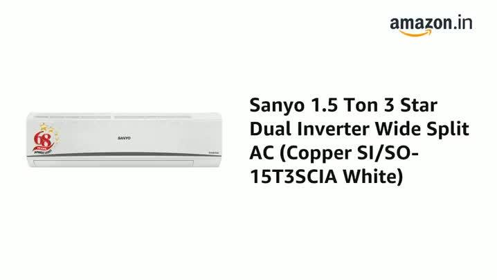 Sanyo 1.5 Ton 3 Star Inverter Split AC 1
