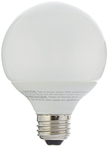 TCP 60 Watt Equivalent, Single-pack, CFL G25 Globe Light Bulb, Non-dimmable, Soft White 4G2514A