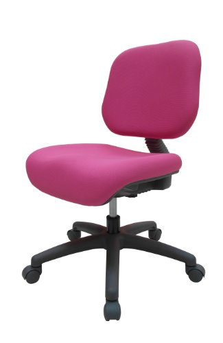 ORE International S-408PNK Youth Comfortable Adjustable Chair with Castors, Pink