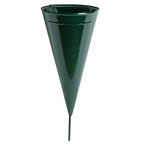 (Novelty 05041 Metal Cone Cemetery Vase, Green)