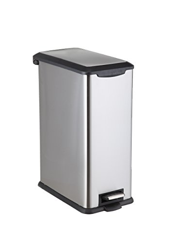 HomeZone Trash Bin 45L Stainless Steel Rectangular Pedal