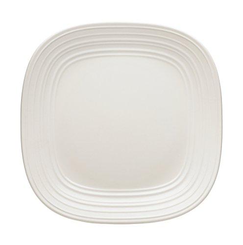 Mikasa Swirl White Square Dinner Plate, (Mikasa Square Plate)