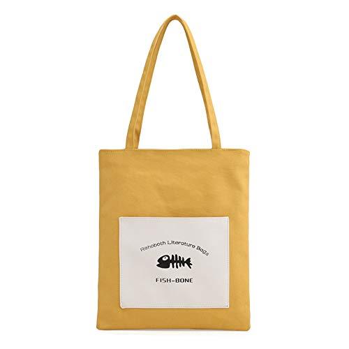 À Main Bandoulière GWQGZ en Femmes Mode De Nouveau À Sac Provisions Loisirs Toile De pour Yellow À Sac Simple Sac Noir wqtxZqvSrn
