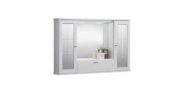 Liberoshopping Espejo de baño Mercurio de 3 Puertas Espejo, iluminación LED: Amazon.es: Hogar