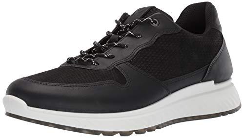ECCO Men's St1 Sneaker, Black/Black Perforated, 46 M EU (12-12.5 US)