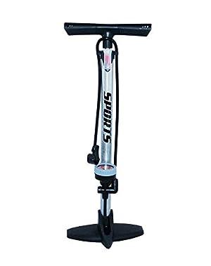 EM BIKE Bomba Inflador de Suelo Portátil con Manómetro Profesional para Bicicletas y Motocicletas.