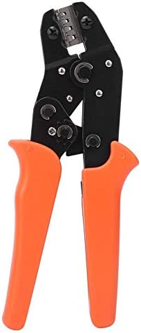 ラチェットクリンパーヘビーデューティースチール製専用圧着ペンチ精密圧着工具ノンスリップハンドル190mm0.1〜1.5 mm²端子ケーブルワイヤー用小型耐摩耗耐圧省力