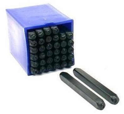 Professional 36pc Letter & Number Stamp Punch Set 3/16'' 5mm Hardened Steel - Metal, Wood, Leather