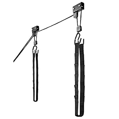 1003 Kayak & Canoe Lift Hoist Kayak For Garage / Canoe Hoists 125 lb Capacity by RAD Sportz
