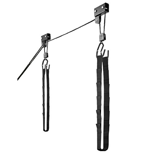 1003 Kayak & Canoe Lift Hoist Kayak For Garage / Canoe Hoists 125 lb Capacity by RAD Sportz (Bike Hoist System Pulley)