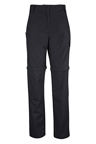 Mountain Warehouse Expedition Womens Convertible Trouser Black 10