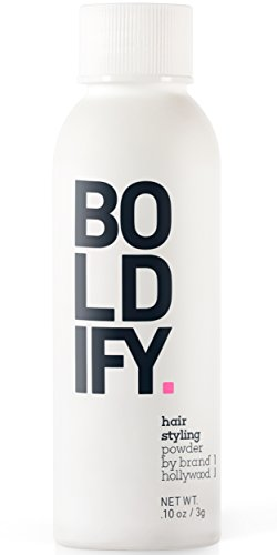 BOLDIFY Hair Styling Powder - Get Extra Volume and Body that Lasts - Instant Volumizing, Texture and Lift for All Hair Types - For Women and (Black Light Hairspray)