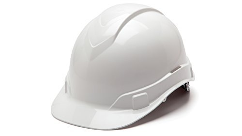 Pyramex Safety HP46110 Hard Hats Ridgeline Cap Style 6-Point Ratchet Suspension by Pyramex Safety