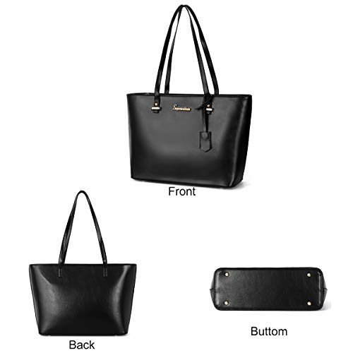8b210d5cb7 Soperwillton Women Fashion Handbags Shoulder Bags Tote Satchel Purse Set  5pcs