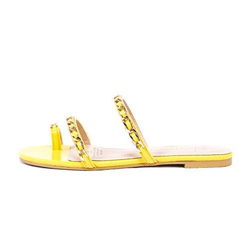 Piatto Tacco Casual Sandali amp;X QIN Yellow da Donna Infradito UqXgYRxwA