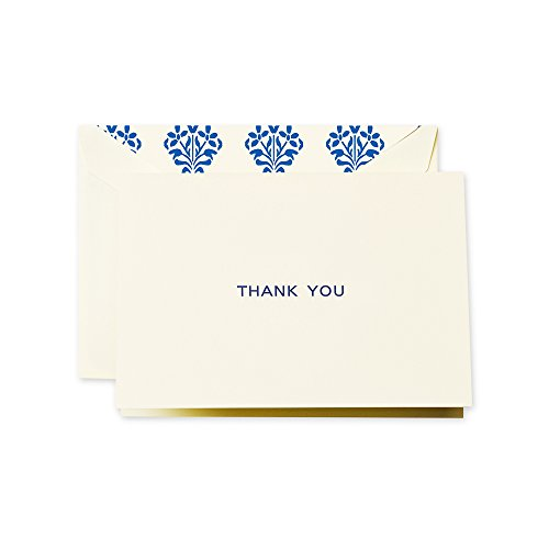 Crane & Co. Navy Block Text Thank You Note (CT1406)