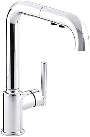 Amazon Com Manual Single Mount Mid Arc Pull Out Kitchen Sink Faucet Home Improvement