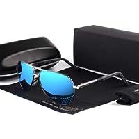 WENZHEN Lentes de Gafas de Sol polarizadas de Aluminio Vintage de los Hombres Que Cubren Las Sombras de conducción para los Hombres/Wome