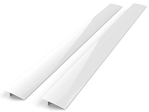 Kohzie Silicone Stove Counter Gap Cover WHITE, Stove Gap, Gap cap for stoves (Set of 2) by Kohzie