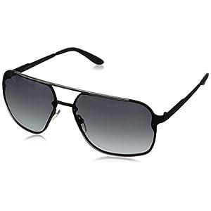 Carrera CA91S Rectangular Sunglasses, Matte Black, 64 mm
