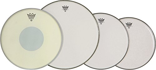 Tom Package Coated Drum Heads (Remo PP0830-BX Smooth White Emperor ProPack Plus 14-Inch Emp X Snare Head)