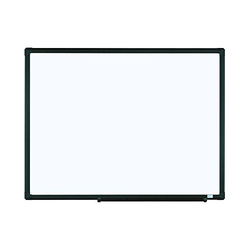 Lockways Magnetic Dry Erase Board - Magnetic Whiteboard/White Board 24 x 18 inch, Black Aluminium Frame Magnetic Board, 1 Aluminum Marker Tray, 1 Dry Erase Marker, 2 Magnets for School, Home, Office by Lockways