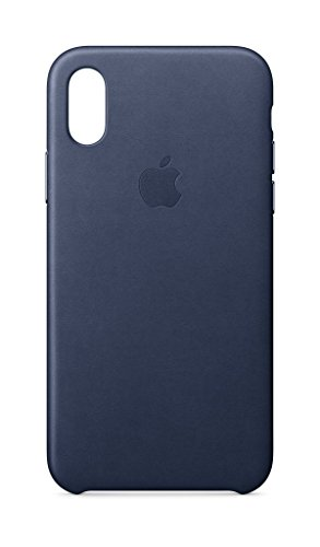 Apple iPhone X Leather Case – Midnight Blue