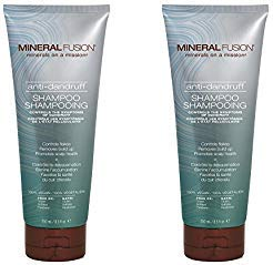 Mineral Fusion Anti-Dandruff Shampoo (Pack of 2) with Certified Organic Aloe Vera Juice, Malachite Extract, Smithsonite Extract, Tea Tree Oil, Oregano Extract and Montmorillonite Clay, 8.5 fl. oz.