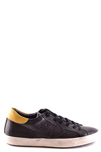 Philippe Model Herren MCBI238064O Gelb/Schwarz Leder Sneakers