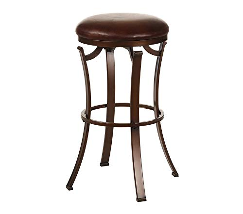 Backless Swivel Counter Stool Antique Bronze Decor Comfy Living Furniture Deluxe Premium Collection