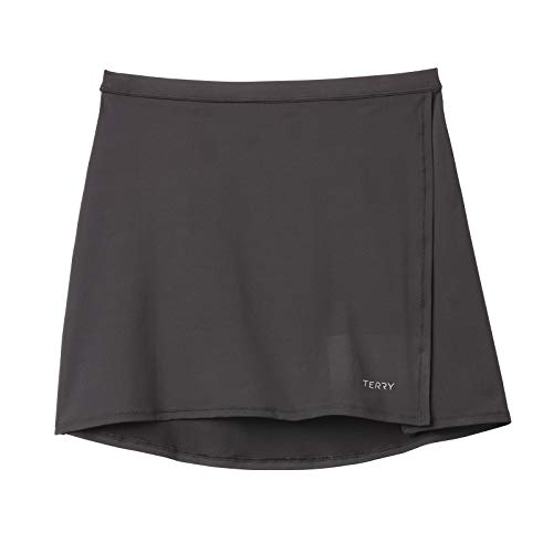 Terry Mixie Cycling Skirt - Women's Active Bike Cover-up for Cycling Performance and Comfort - Black - Medium ()